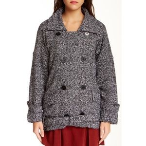 FREE PEOPLE slouchy Moto jacket button large AS IS
